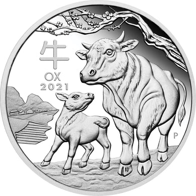 2021 $1 Lunar Series III - Year of the Ox 1oz Silver Proof Coin