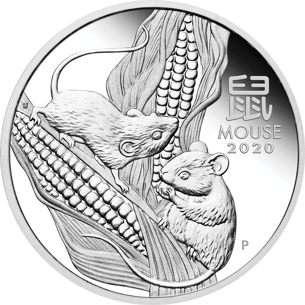 2020 50c Year of the Mouse 1/2oz Silver Proof Coin