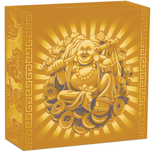 2021 Tuvalu $100 Laughing Buddha 1oz Gold Proof Coin