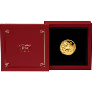 2021 $25 Lunar Series III - Year of the Ox 1/4oz Gold Proof Coin