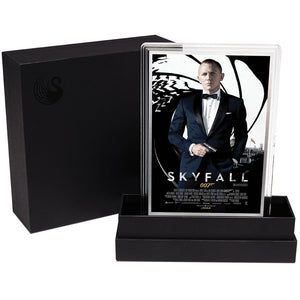 007 James Bond Movie Poster - Skyfall 5g Silver Foil