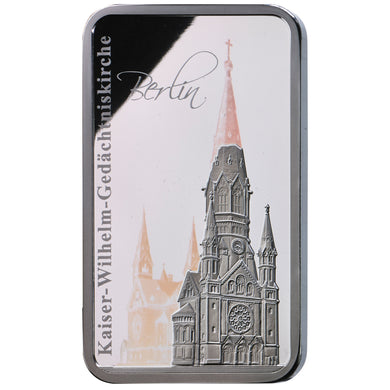 2017 Sol. Islands $2 Kaiser Wilhelm Church Hologram 1oz Silver Proof