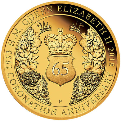 2018 $25 QEII Coronation 1/4oz Gold Proof Coin