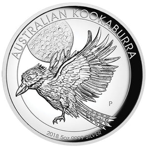 2018 $8 Kookaburra High Relief 5oz Silver Proof Coin