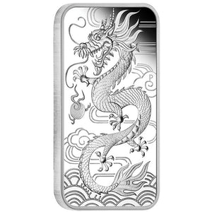 2018 $1 Dragon Rectangular 1oz Silver Proof