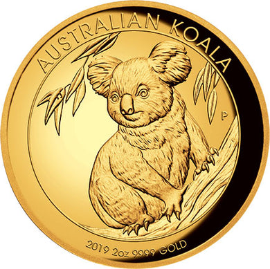 2019 $200 Koala High Relief 2oz Gold Proof