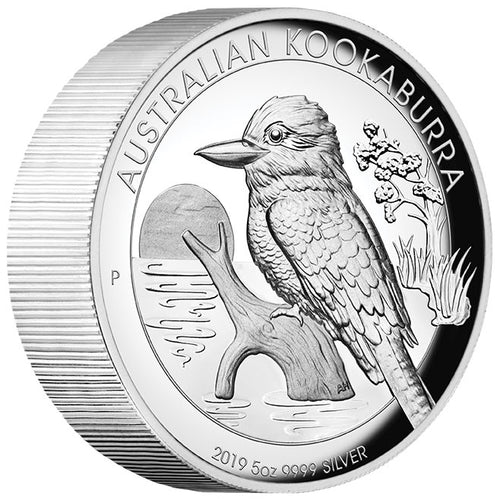 2019 $8 Kookaburra High Relief 5oz Silver Proof
