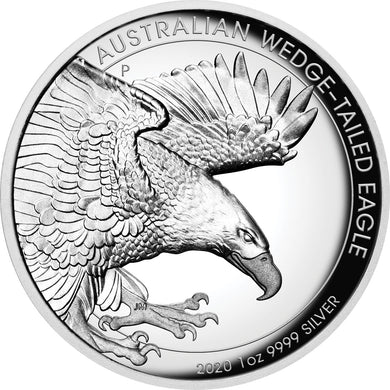 2020 $1 Wedge-Tailed Eagle High Relief 1oz Silver Proof Coin