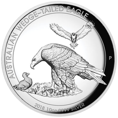 2018 $10 Wedge-Tailed Eagle High Relief 10oz Silver Proof Coin