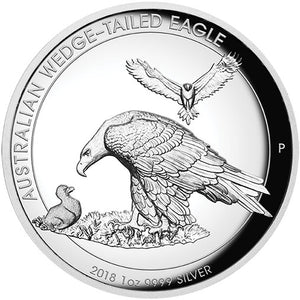 2018 $1 Wedge-Tailed Eagle High Relief 1oz Silver Proof Coin
