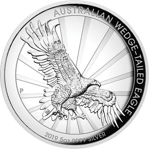 2019 $8 Wedge-tailed Eagle High Relief 5oz Silver Proof Coin