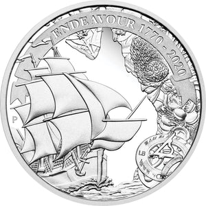 2020 $1 Voyage of Discovery Endeavour 1oz Silver Proof Coin