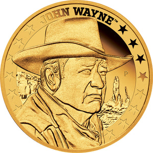 2020 Tuvalu $25 John Wayne 1/4oz Gold Proof Coin