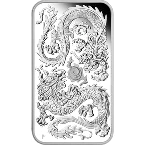 2020 $1 Dragon Rectangular 1oz Silver Proof