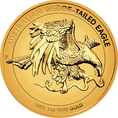 2021 $100 Wedge-Tailed Eagle High Relief 1oz Gold Enhanced Reverse Proof