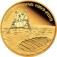 2019 $100 Moon Landing High Relief 1oz Gold Proof Coin