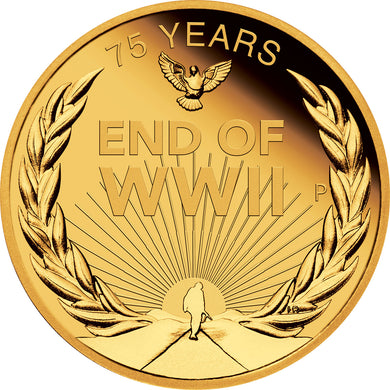 2020 $25 End of WWII 1/4oz Gold Proof Coin