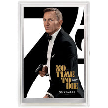 007 James Bond Movie Poster - No Time To Die 5g Silver Foil