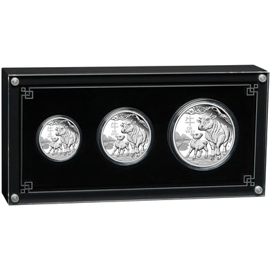 2021 Lunar Series III - Year of the Ox Silver Proof Three-coin Set