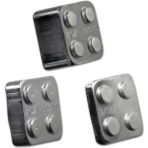 Building Blocks 1/8oz, 1/4oz, &1/2oz Silver Bar (2x2) Set of 3