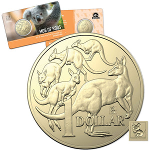 2021 $1 Mob of Roos Koala Privymark Al-Br Unc