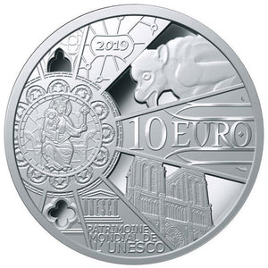 2019 France 10€ Notre Dame Reconstruction Silver Proof