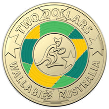 2019 $2 Rugby World Cup Wallabies Unc