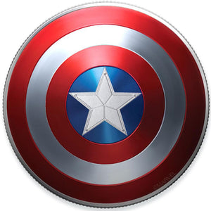 2019 Fiji $1 Captain America Shield 10g Silver Coin