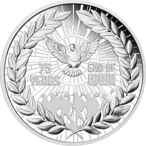 2020 $1 End of WWII 1oz Silver Proof Coin