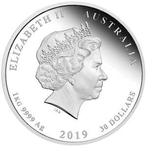 2019 $30 Year of the Pig 1 Kilo Silver Proof Coin
