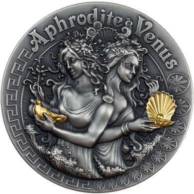 2020 Niue $2 Strong & Beautiful - Аphrodite & Venus 2oz Silver Coin