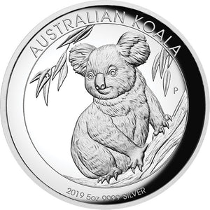 2019 $8 Koala High Relief 5oz Silver Proof Coin