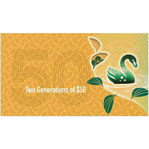 2018 $50 Two Generations Note Folder