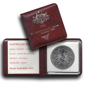 1982 $10 Commonwealth Games Silver Unc