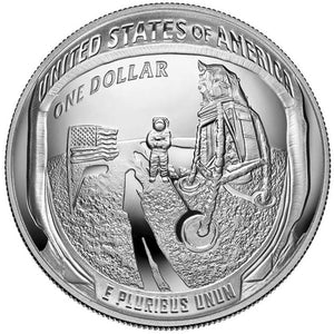 2019 USA $1 Apollo 11 Moon Landing Silver Proof