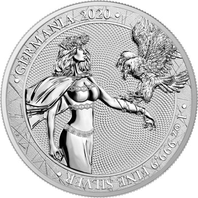 2020 5 Mark Germania 1oz Silver BU