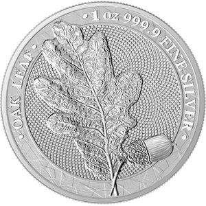 2019 5 Mark Germania Oak Leaf 1oz Silver BU