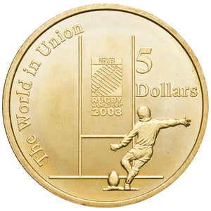 2003 $5 Rugby World Cup Unc