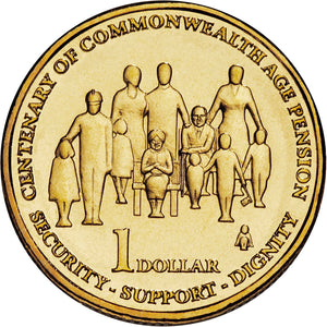 2009 $1 Centenary of Aged Pension Unc
