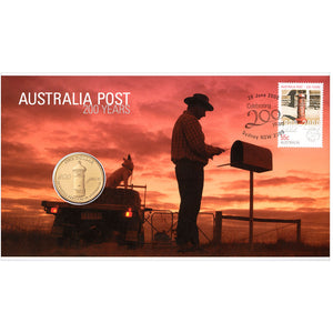 2009 $1 Australia Post 200 Yrs PNC