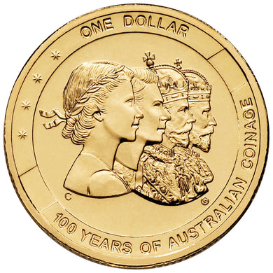 2010 $1 Centenary Aust. Coinage Mintmark/Privymark Folder C, B, M, S