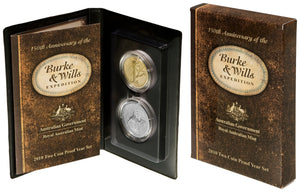 2010 20c/$1 Burke and Wills 2-coin Proof Set