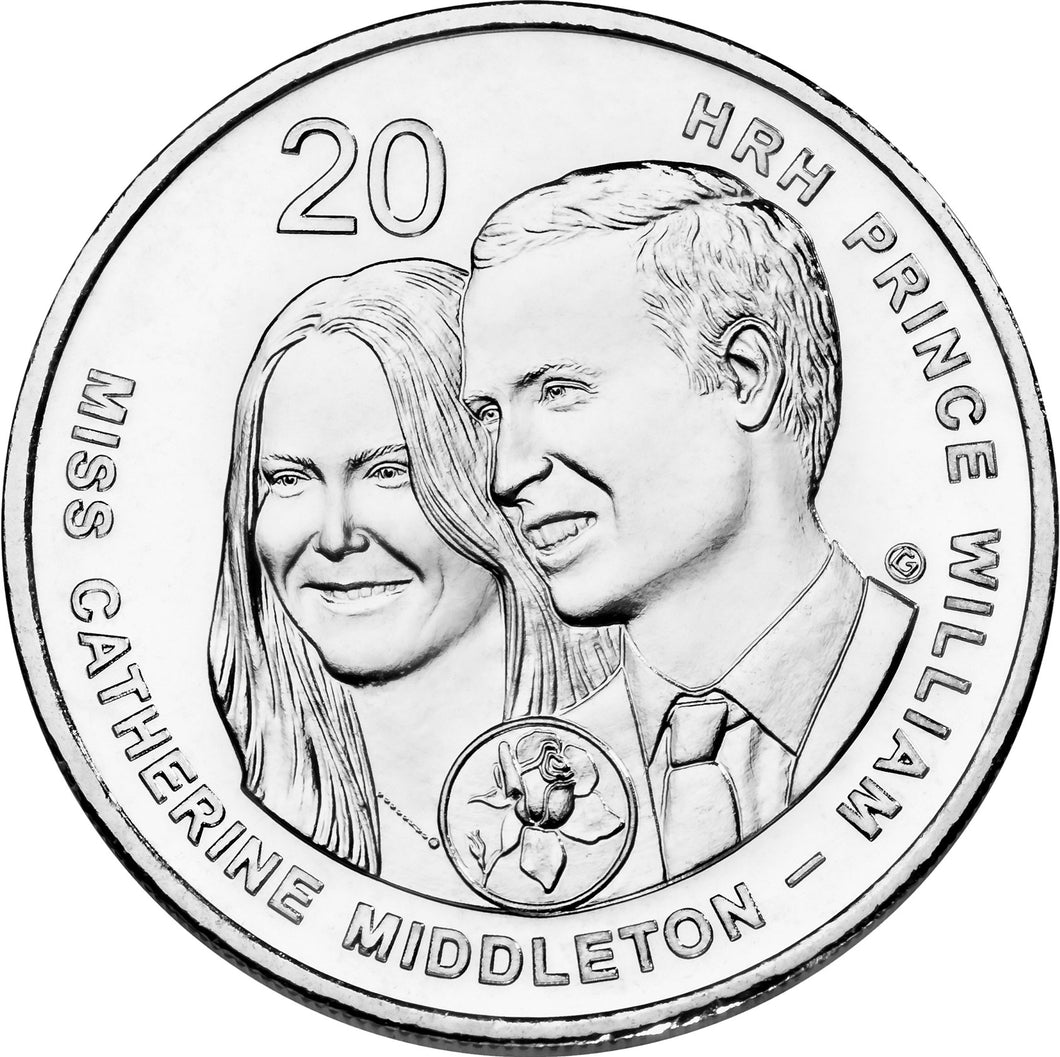 2011 20c Royal Wedding Unc