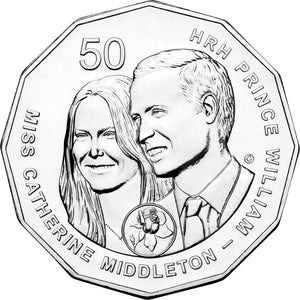 2011 50c Royal Wedding Unc