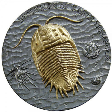 2016 Niue $2 Evolution - Trilobite 2oz Silver Coin