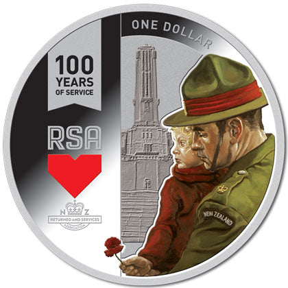 2016 NZ $1 RSA Centenary 1oz Silver Proof Coin