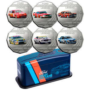 2018 50c Ford Performance Car 6-coin Set PLUS Collector Tin