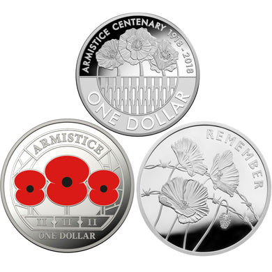 2018 Armistice 3-coin Silver Proof Set