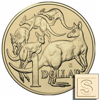 2018 $1 Mob of 'Roos 'S' Privymark Unc