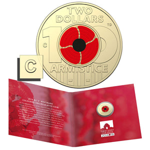 2018 $2 Remembrance Day 'C' Mintmark Unc